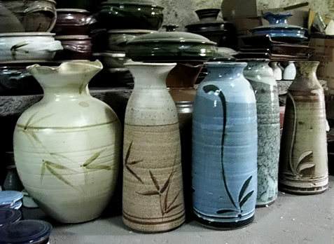 selection of market pottery