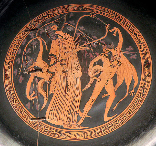Dionysos in ancient Greek Pottery
