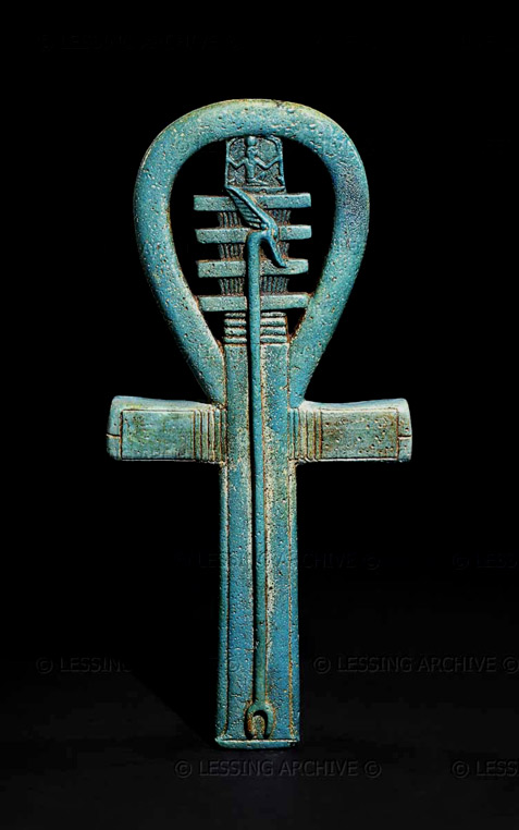 Egyptian Amulet faience ankar