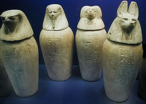 four canopic jars