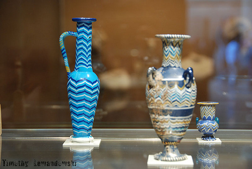 Egyptian Pots at the Lourve with geometric styling