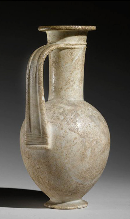 Calcite Jug 18th Dynasty,-reign of Tuthmosis III - Amenhotep-III,-1479-1353