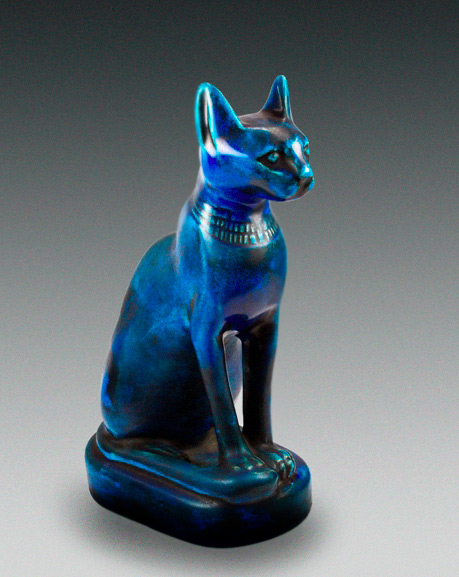 Egyptian Faience Cat- Sadigh Gallery