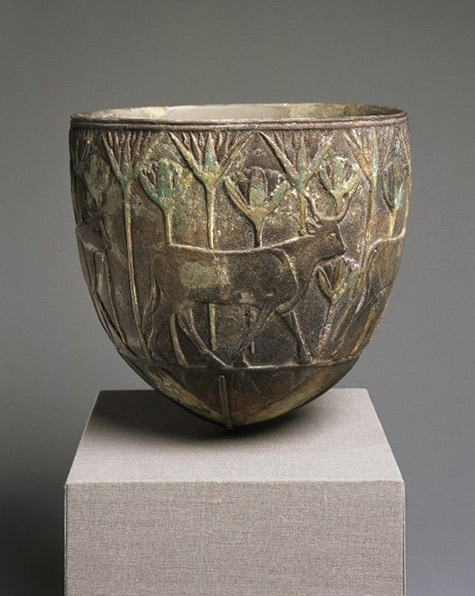 Faience-Vessel-egypt with carved decorations