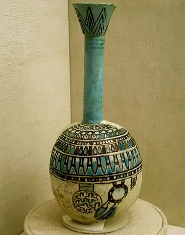 Egyptian Long necked vessel with spherical base