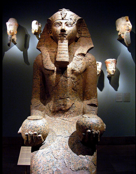 l44arge kneeling statue of Hatshepsut Flickr Photo Sharing