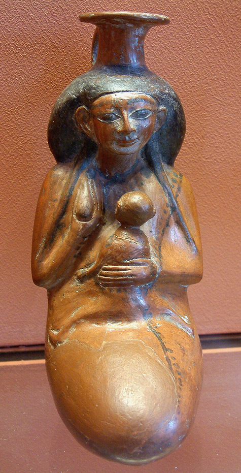 Egyptian Isis Ceramic Statue