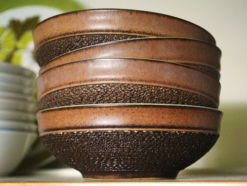 Salt Glazed bowls. Denby Potters Wheel series & salt glazed - Ceramics and Pottery Arts and Resources