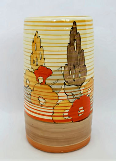 Orange-capri-sleeve-vase-by-Clarice -Cliff