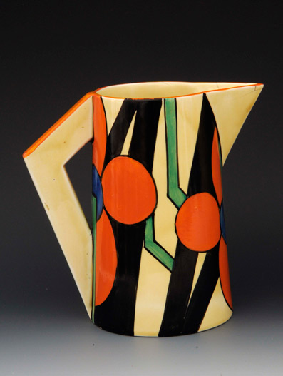 Clarice-Cliff-Bizarre-Picasso-Flower-pattern-Odilon-jug-Bamfords-Auctions