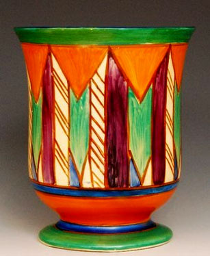 Clarice Cliff shape 353 vase of footed bell 1928