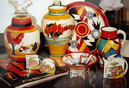 Clarice Cliff pottery collection