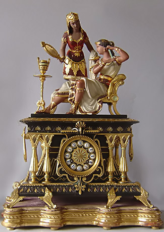 Egyptian Revival mantle clock