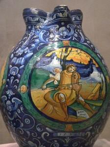 Italian Majolica vase