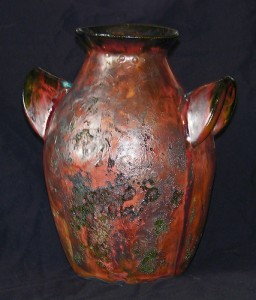 Raku Pottery Jug by Jason Outlaw