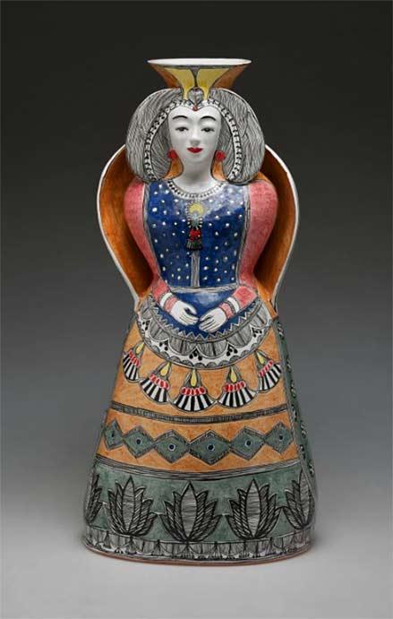 Andrea-Gill-ceramic-figural-vase