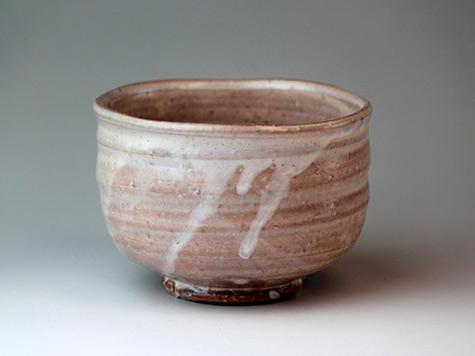 Hagi-yaki-ware-Japanese-tea-bowl-Raku-Keizo-Takeshita-chawan