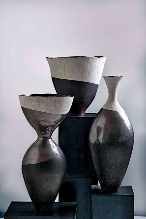 Helen-Vaughan three ceramic vessels