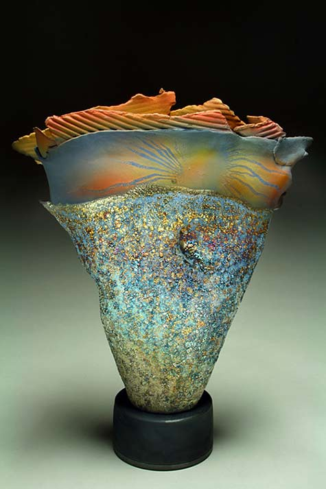 'Space Rock Monolith'raku sculpture – Steven Forbes