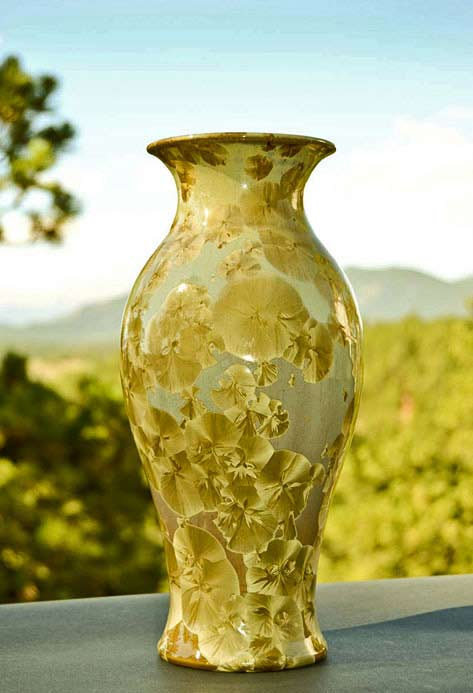 large crystal glaze pot - from Gifted Pottery
