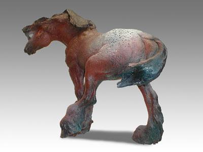 Elizabeth Ritter raku horse