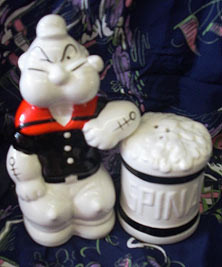 popeye ceramic figurine