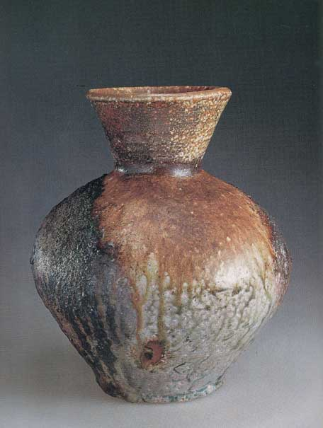 Japanese Wood fired Shigaraki Anagami ceramic pottery