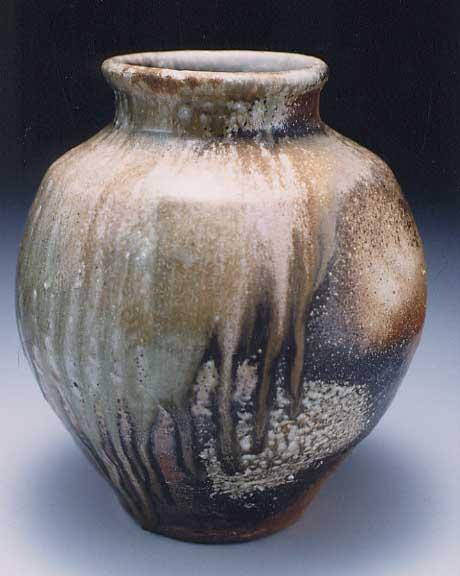 Japanese Wood fired Shigaraki Anagami ceramic pottery