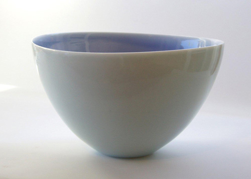Pale blue porcelain bowl by Phil Elson