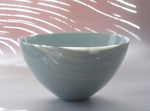 Blue porcelain bowl - Phil Elson
