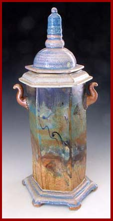 pottery  spire jar