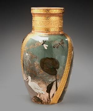 """Rookwood PotteryMonumental """"Oriental"""" vase, 1883"""