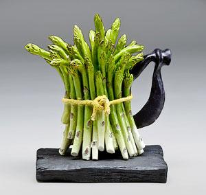 Trisha Coates Green Asparagus Teapot