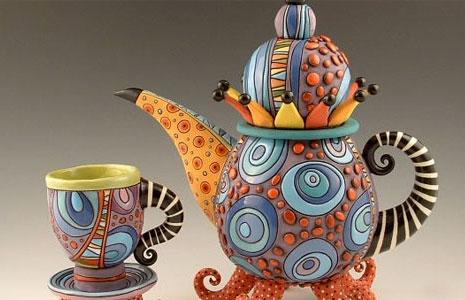 Natalya Sots teapot and cup