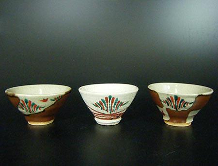 3 Mashiko Guinomi-Sake Cups Hamada Tomoo