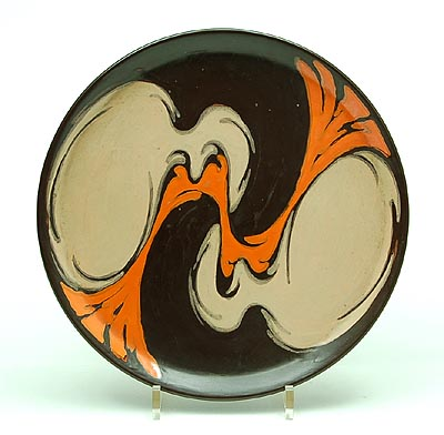 Willem Stuurman dish with abstract swirl motif