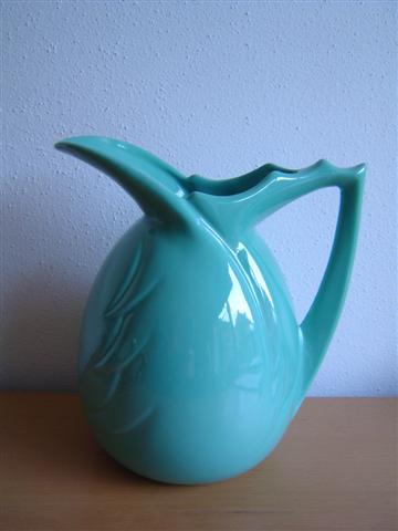 Dutch ceramicist Willem Stuurman turquoise jug