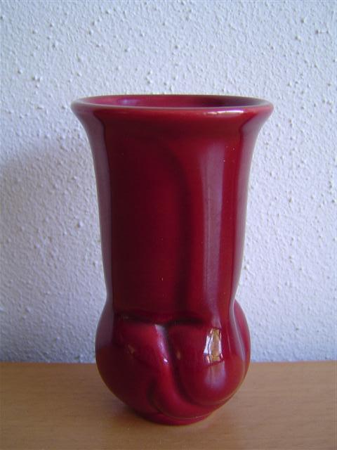 Willem Stuurman crimson red vase