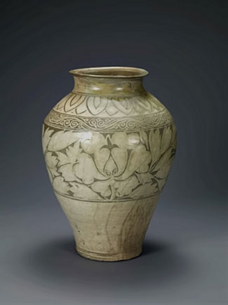 Korean Jar with peony decoration