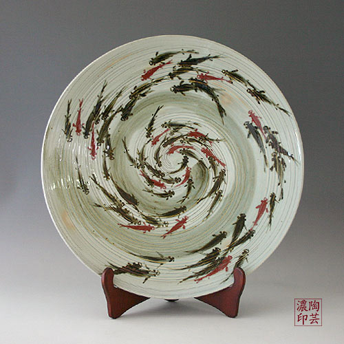 Iron-black-red-copper-paint-fish-design-Korean- & Korean Ceramics