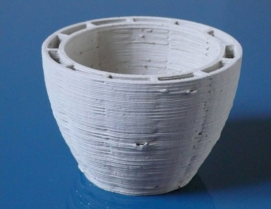 Double Walled Vessel from Ceramic Printer