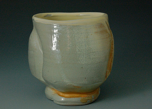 """Salt-fired-tea-bowl-Laurie-Erdman"""