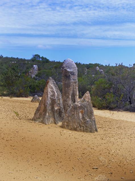 Pinnacle desert natural rock sculptures