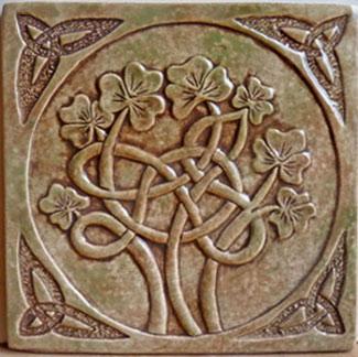 Celtic style shamrock tile by Earthsong