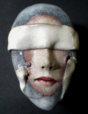 Peggy Bjerkman Ceramic Mask See-No-Evil