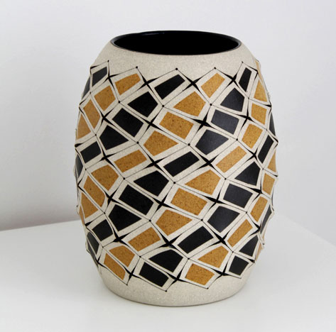 Gustavo Perez Ceramic Vessel with contemporary surface decoration