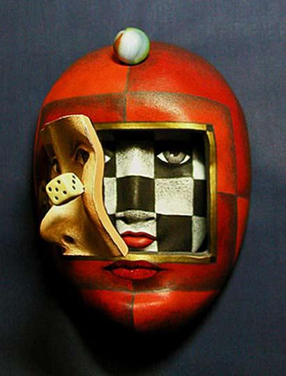 Ceramic Maskwoman Aka Peggy Bjerkman
