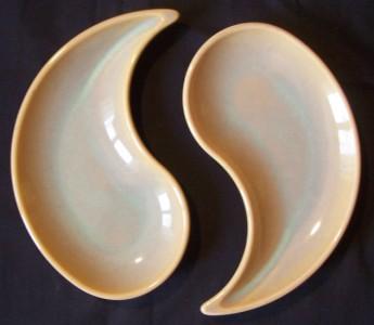 Yin Yang ceramic trays