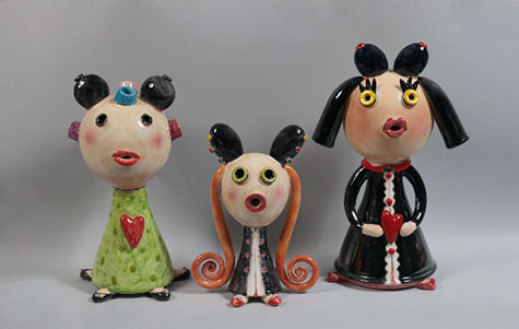 Traditional 'Burdela' doll figurines - Mirta Morigi