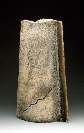 Raku Vase by Philippe Buraud